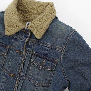 GAP Jackets & Coats - GAP Womens Sherpa Lined Denim Jean Jacket Sz S